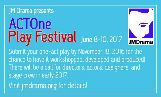 ActOne Play Festival blue ad