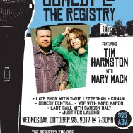 Tim Harmston with Mary Mack